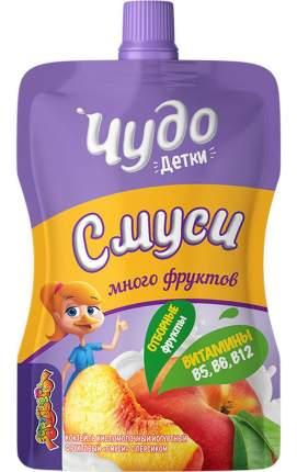Коктейль к/м смуси чудо детки бзмж персик жир. 2,1 % 70 г д/п вимм-билль-данн россия