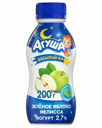 Йогурт Агуша Засыпайка с 8 месяцев зеленое яблоко мелисса 2.7 % 200 г