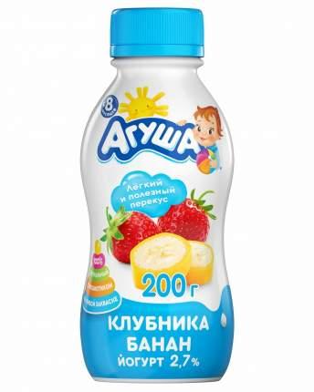Йогурт Агуша питьевой клубника банан 2.7% 200 г