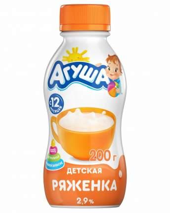Ряженка Агуша с 12 месяцев сладкая 3.2% 200 г