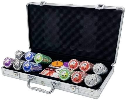 Покерный набор Royal Flush, 300 фишек, 11,5 г, с номиналом, в алюминиевом чемодане