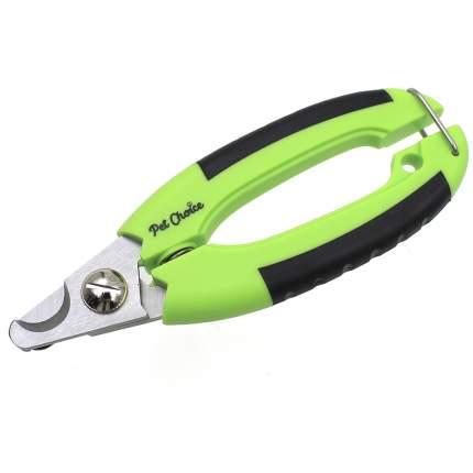 Когтерез-гильотина для кошки, собаки Pet Choice, нержавеющая сталь, зеленый, черный