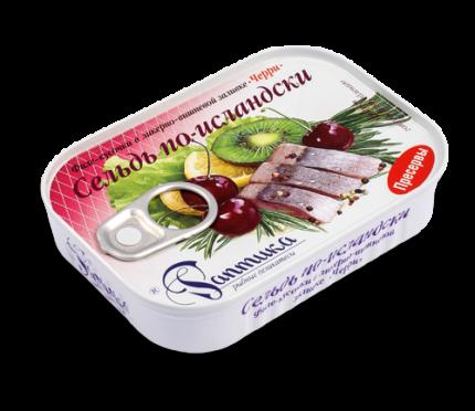 Сельдь Раптика по-исландски филе-кусочки в ликерно-вишневой заливке 115 г