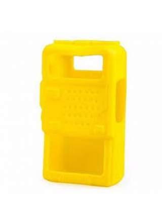 Чехол для радиостанции Baofeng UV-5R силикон желтый
