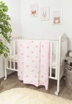 Плед Сонный гномик Розовый фламинго муслин