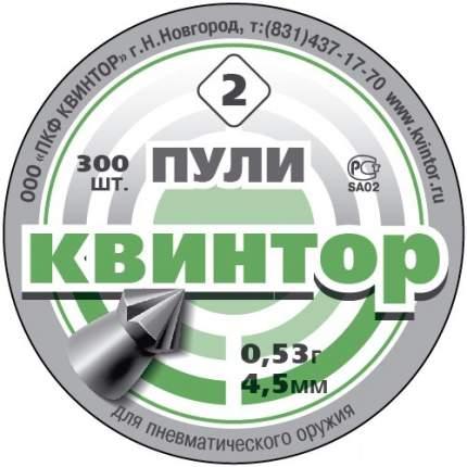 Пули Квинтор 0,53 (300 шт., остроконечные с насечкой)