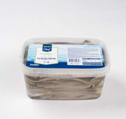 Сельдь филе Metro Chef в масле с укропом слабосоленая 3,4 кг