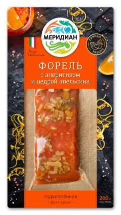 Форель Меридиан с аперитивом и цедрой апельсина филе-кусок подкопченная 200 г
