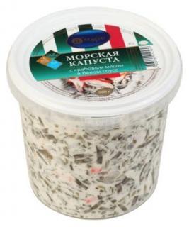 Салат А'Море из морской капусты с крабовым мясом и белым соусом 900 г