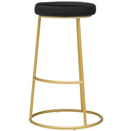 Барный стул Austin черный велюр StoreForHome / BY-30-BLACK-GOLD