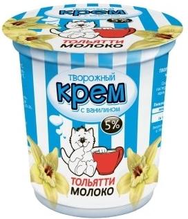 Творожный крем Тольяттимолоко с ванилью 5% 130 г бзмж