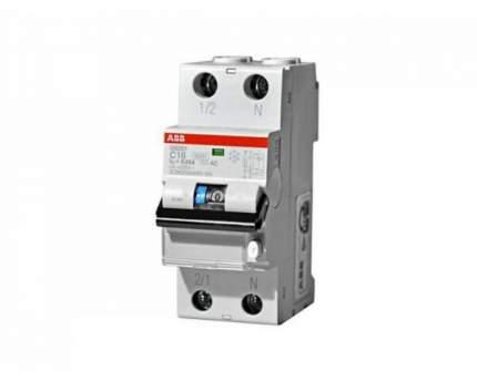 Дифавтомат ABB DS201 C16 AC30 2-полюсный характеристика C 16A 30mA тип АС 2CSR255080R1164