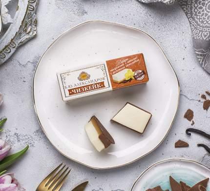 Десерт творожный Б.Ю. Александров Чизкейк ваниль с молочным шоколадом 15% 40 г