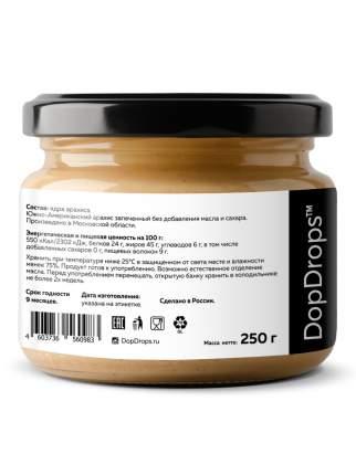 Арахисовая паста хрустящая DopDrops Кранч без добавок 250г