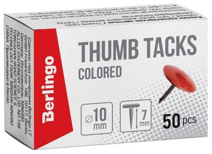 Кнопки канцелярские/гвоздики цветные 10мм 50шт карт. упаковка