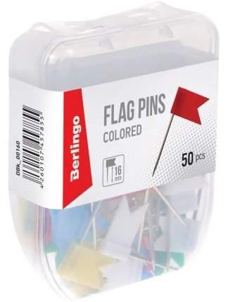 Кнопки силовые/флажки 50 шт пласт. упаковка, европодвес
