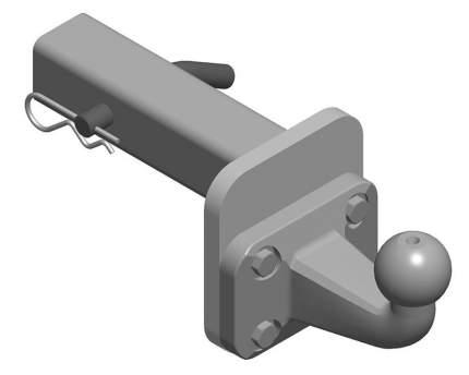 Шаровый узел AvtoS ty-07 для фаркопа на базе шара f без электрики