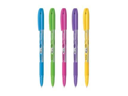 """Ручка шариковая Berlingo """"Blitz Pro"""", синяя, 0,7мм, грип, корпус ассорти"""