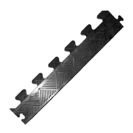 Бордюр резиновый для коврика MB Barbell черный, толщина 12 мм MB-MatB-Bor12