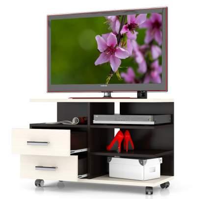 Тумба под телевизор выкатная Мебельный Двор Т6 90х40х61 см, венге