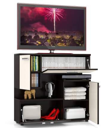 Тумба под телевизор приставная Мебельный Двор С1-1400 100х30х93 см, венге
