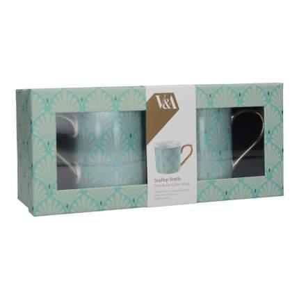 Набор кружек Kitchen Craft Scallop Shells 2 шт, в подарочной упаковке, 0,3л, 5227086