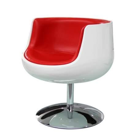 Барное кресло Beonmebel Cup Cognac А340-1 белое с красным