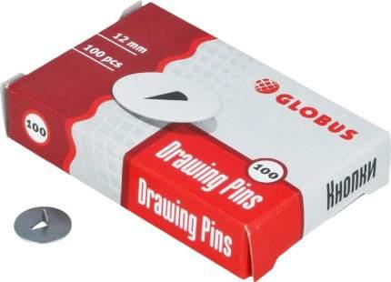 Кнопки канцелярские 12мм, 100шт, карт упак 087112
