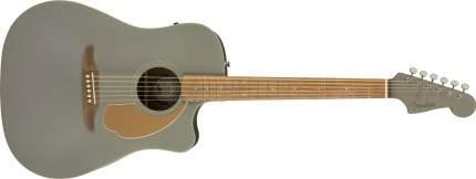 Электроакустическая гитара Fender Redondo Player Slate Satin