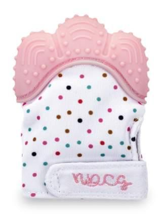 Прорезыватель-рукавичка NDCG от 3х до 12 месяцев, розовый