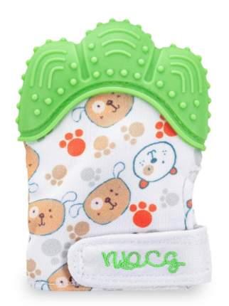 Прорезыватель-рукавичка NDCG от 3х до 12 месяцев, зеленый