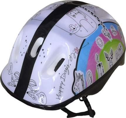 Шлем защитный ATEMI подростковый, аквапринт Зверушки , 52-54cm, М (6-12 лет), AKH06GM