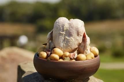 Курница 21 см керамическая для запекания курицы