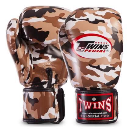 TWINS Боксерские перчатки Twins fbgvs3-ml fancy boxing gloves коричневые 16 унций