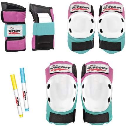 Комплект защиты Wipeout Pink-Teal (M 5+) - розово-бирюзовый