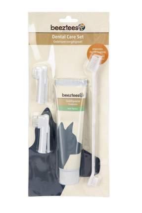 Набор для ухода за зубами для собак Beeztees, зубная паста 100г+щетка+щетка-напальчник-2шт