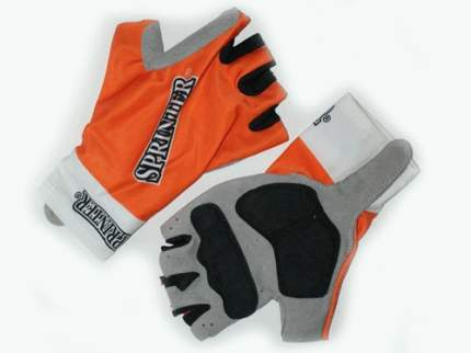 Велоперчатки Sprinter :(94-95):, оранжевый, S