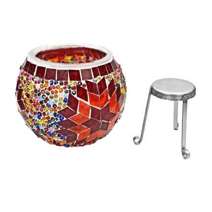 Подсвечник с мозаикой «Ориент», 9х9 см, MARMA MM-LGHT-01