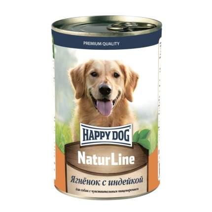 Влажный корм для собак Happy Dog Natur line, ягненок, индейка, 20шт, 410г