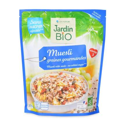 Мюсли Lea Nature Jardin Bio с изюмом и зернами 375 г