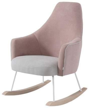 Кресло-качалка Micuna Wing/Moom white текстиль pink tierra/light grey