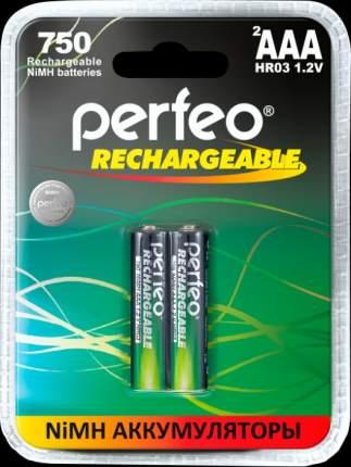Аккумулятор Perfeo AAA750mAh/2BL Пластик