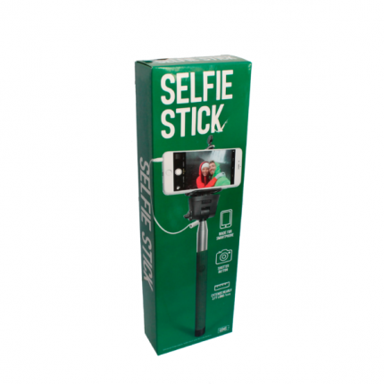 Селфи-палка для смартфона. Зеленая. 91 см.