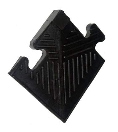 Уголок резиновый для бордюра MB Barbell черный, толщина 20мм MB-MatB-Cor20