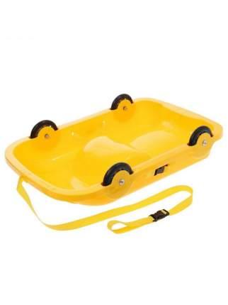 Санки детские детская Doloni Повозка-сани 2 в 1, 48x77 см, желтый