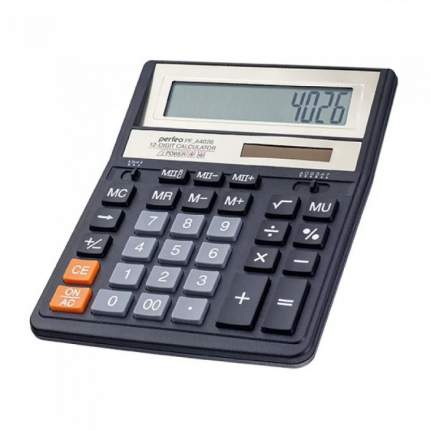 Perfeo калькулятор PF_A4026, бухгалтерский, 12-разр., черный