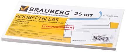 "Конверты Е65 BRAUBERG, комплект 25 шт., отрывная полоса STRIP, ""Куда-Кому"", 110х220 мм"