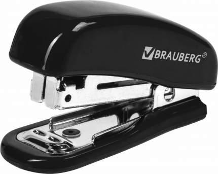 Степлер Brauberg Nero 222544, №10, мини, 12 л, встроенный антистеплер, черный