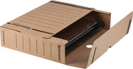 Короб архивный с клапаном BRAUBERG микрогофрокартон, 75 мм, до 700 листов, плотный, бурый