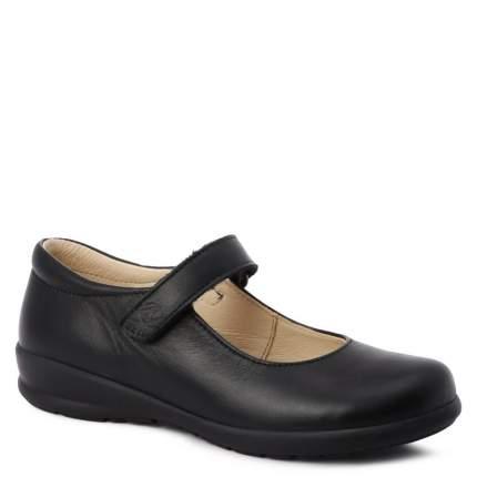 Туфли для девочек Naturino, цв. черный, р.35